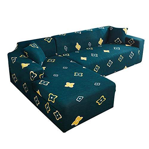 lingzhuo-shop Snijbank Afdekkingssets / 2 zits / uitbreiding / groot / elastisch / impregneren L vorm-elastische sofa covers set comfortabele hoekbank bescherming voor interieur