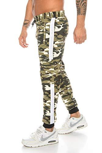 Raff&Taff Herren Sportwear Sporthose Cannabis Joggingshose Camouflage Bundeswehr Hose Tarnhose Cargohose Biker Hose Amerika (Black, XXL) (XL, Helloliv(1000))