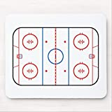 Mouse Pad with Non-Slip Rubber Base Ice Rink Diagram Hockey Game Companion Gaming Mousepad for Computer Laptop PC, 7.9x9.8 inches