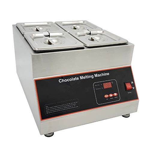 Wgwioo Luftheizschokoladenschmelzmaschine, Heißschokoladencremetemperiermaschine, Für Schokoladenkäse-Fondue-Schokolade,4 pots