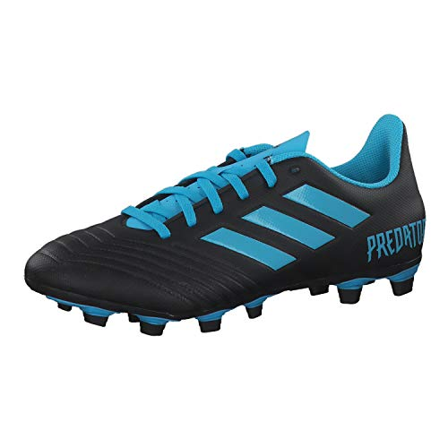 adidas Predator 19.4 FxG, Bota de fútbol, Core Black-Bright Cyan-Solar Yellow, Talla 6 UK (39 1/3 EU)