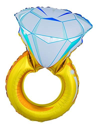 Generique - Globo Gigante Anillo con Diamante 105 cm