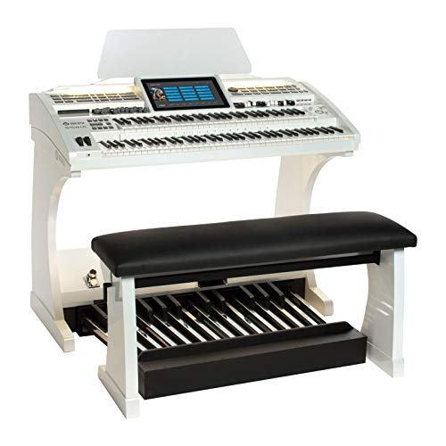 Orgel SONIC OAX700 Perlmutt Wei� inkl. 25-Tastenpedal und Sitzbank