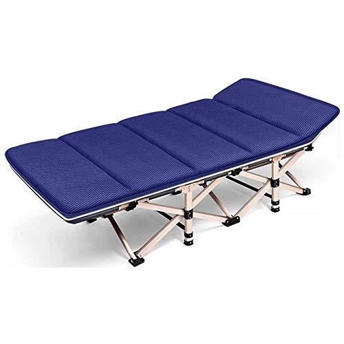 XIAOHE Büroschlaf Bett Liege Single-Haushalt bewegliche Faltbare Stühle (Color : Blue)