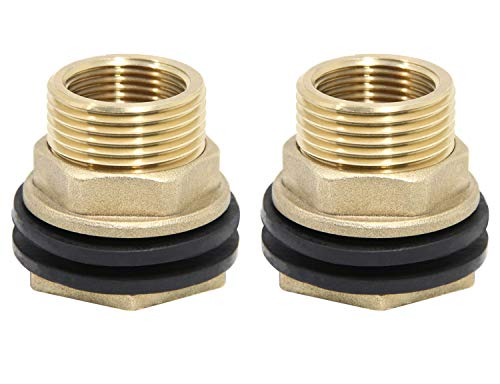 9 Units Bulkhead Straight Adapter 8 mm Male Metric DIN x 8 mm Male DIN Brass Brennan