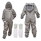 MS Professional Bee Suit Apiarist Cotton Beekeeper Protective Suit with One Pair Gloves Apiary...