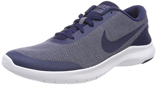 Nike Mens Flex Experience rn 7 Fabric Low Top Lace Up Running, Blue, Size 8.0