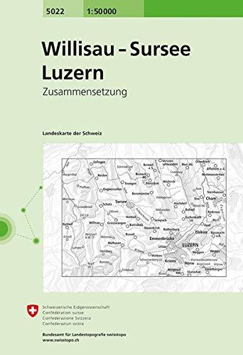 5022 Willisau - Sursee - Luzern: Zusammensetzung (Landeskarte 1:50 000 Zusammensetzungen)