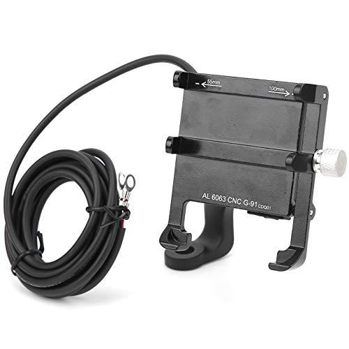 DAUERHAFT Accesorios para Bicicletas Llave Negra del Soporte móvil del Coche eléctrico 2, para el Coche, para una conducción Segura