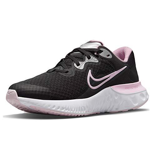 Nike Renew Run 2 (GS), Running, Black Pink Foam Metallic Silver Wh, 36.5 EU