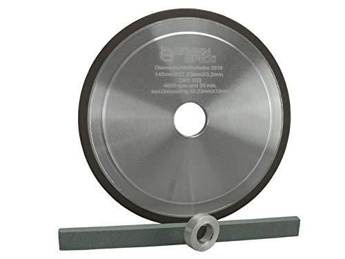 Sägenspezi Schleifscheibe Profiausführung HM 145mm x 22,3mm/12mm x 3,2 mm passend für Hartmetall Duro