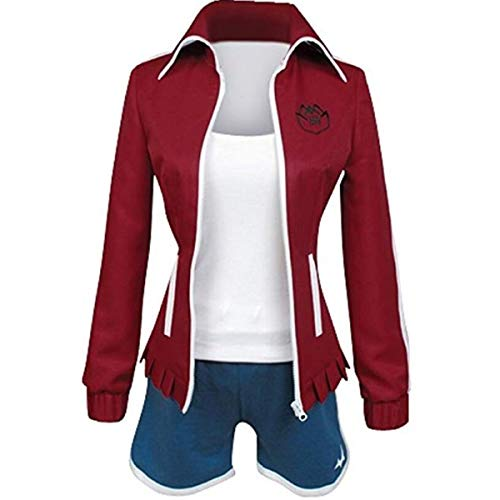 Nsoking Danganronpa Dangan-Ronpa Aoi Asahina Cosplay Costume School Uniform Custom (Large, Red)