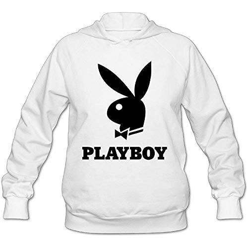 Gilbert Joyce Women's Playboy Logo Pullover Hooded Printing Hoodie XXL