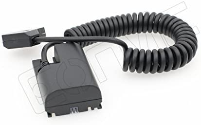 Eonvic D-Tap to LP-E6 Dummy Battery Adaptor Power Coiled Cable for SmallHD 501/502 702 Monitor