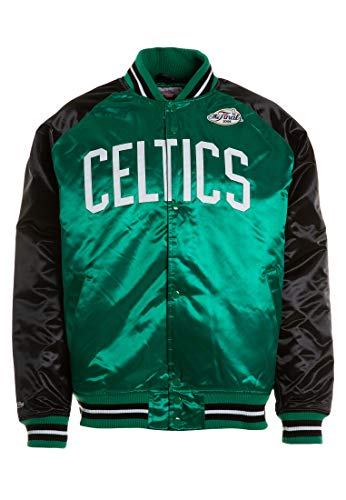 Mitchell & Ness Boston Celtics NBA HWC Tough Season Satin Jacket Bomber College Jacke