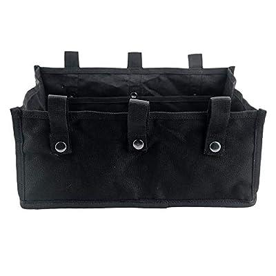 Rollator Storage Under Seat Bag Folding Underseat Walker Pouch Fabric Rollator Basket Accessories for 4 Wheels Walker for Senior (Black) by ZipSeven
