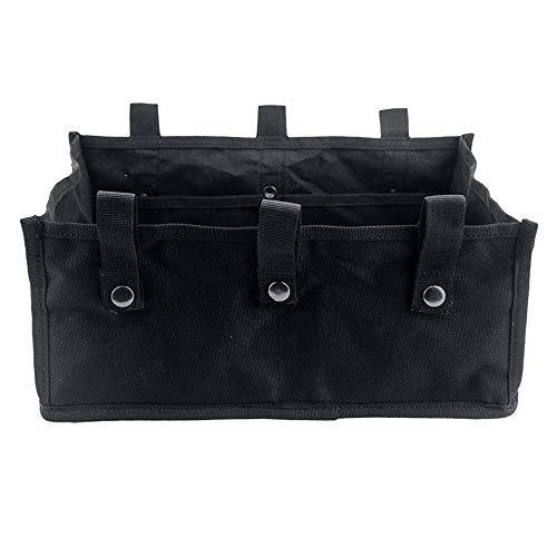 Rollator Storage Under Seat Bag Folding Underseat Walker Pouch Fabric Rollator Basket Accessories for 4 Wheels Walker for Senior (Black)