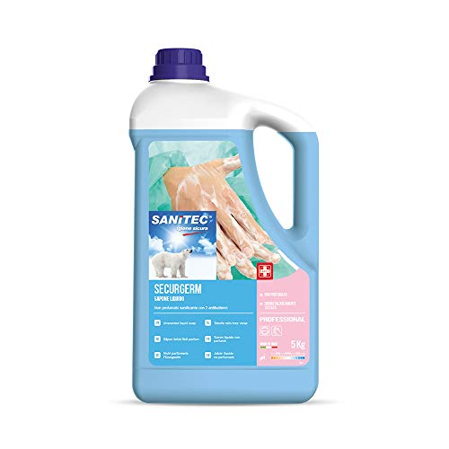 SANITEC igiene sicura Sapone Mani, Bianco, 5 kg