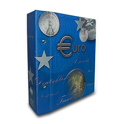 SAFE 7822-B2 2 Euro Münzen 2014-2017 TOPset Sammelalbum aller EU Länder- Münzsammelalbum für Ihre Coin Collection - inkl. 10 Albumblättern Nr. 7854 mit Patentvorrichtung