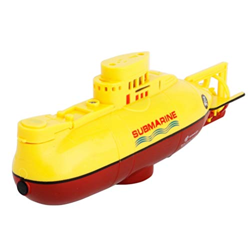 NUOBESTY Radio Control Submarine Mini RC Submarine Toy Juguete de Buceo a Prueba de Agua para Niños Regalo Piscina Agua Juguete (Amarillo)