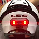 Luz led para Casco para Motocicleta, Bicicleta, Bicicletas eléctricas, Scooters eléctricos, e-Scooter Recargable USB IP67