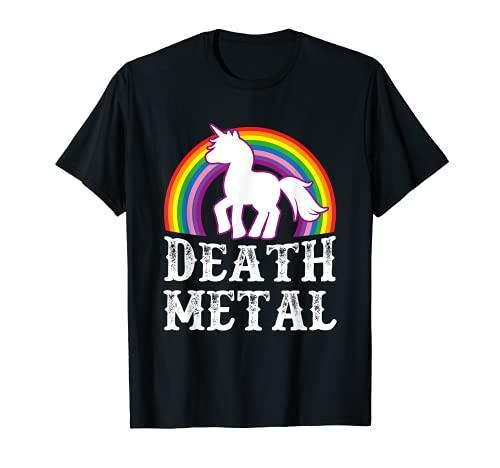 Death Metal Unicornio - Metal pesado sarcástico Camiseta