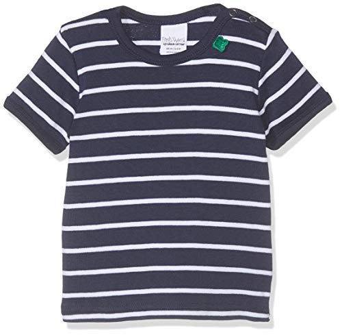 Fred'S World By Green Cotton Stripe T Baby T- T-Shirt À Manches Longues, Bleu (Navy 019392001), 68 Bébé garçon