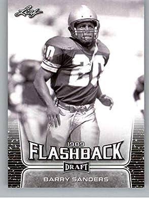2020 Leaf Draft Football #96 Barry Sanders Pre-Rookie Trading Card Detroit Lions