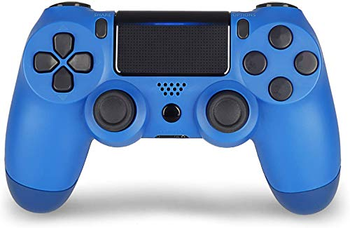 2 Pack Wireless Controller for PS4 - Foster Gadgets Remote Joystick for Sony Playstation 4 with Charging Cable (Alpine Green + Berry Blue, New Model