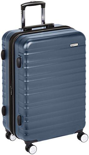 Amazon Basics - Maleta rígida de alta calidad, con ruedas y cerradura TSA incorporada - 78 cm, Azul marino