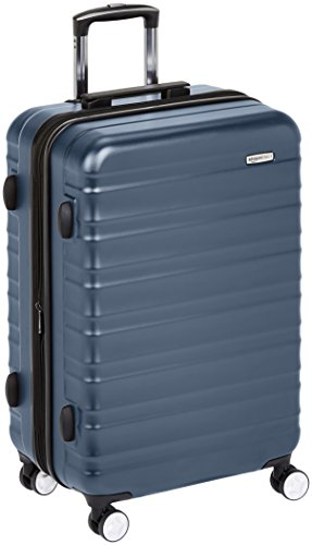 AmazonBasics Premium Hardside Spinner Luggage with Built-In TSA Lock - 78 cm, Navy Blue