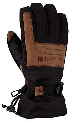Carhartt Men's Vintage Cold Snap Insulated Work Glove, Black/Barley, X-Large