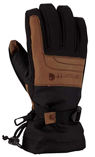 Carhartt Men's Vintage Cold Snap Insulated Work Glove, Black/Barley, Small