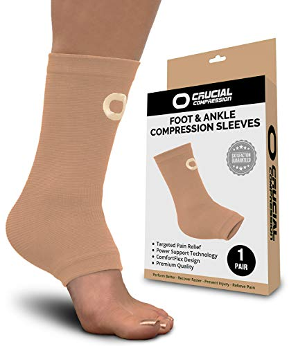 Ankle Brace Compression Sleeve for Men & Women (1 Pair) - Best Ankle Support Foot Braces for Pain Relief, Injury Recovery, Swelling, Sprain, Achilles Tendon Support, Heel Spur, Plantar Fasciitis Socks