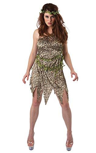 ORION COSTUMES Costume de déguisement de femme des cavernes, de Jane avec imprimé léopard pour femmes