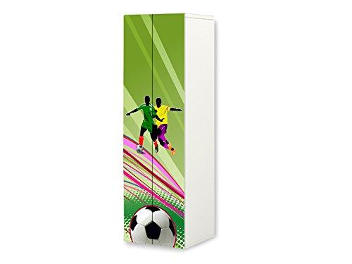 STIKKIPIX Fußball Möbelfolie | SKL12 | passend für den STUVA Kleiderschrank von IKEA | passgenauer Möbelaufkleber (Korpus 60 x 192cm) | Möbel Nicht Inklusive