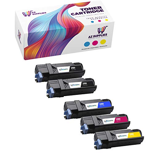 AZ Compatible Toner Cartridge Set Replacement for Dell 2150/2155 Use in Color Laser 2150, 2150CDn, 2150CN, 2155, 2155CDn, 2155CN (Black, Cyan, Yellow, Magenta, 5-Pack)