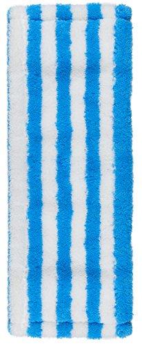 Unger 96195Z Profi Wischbezug Vinyl, maschinenwaschbarer Mikrofaserbezug für alle harten Böden, 2-in-1 Fixierungssystem für Flachmopp-Klapphalter bis 42cm, 100 Prozent Polyester, Blau, 46 cm