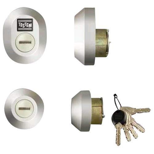 LIXIL (リクシル) TOSTEM ドア錠セット (MIWA DNシリンダー) グレー Z-1A4-DCTC
