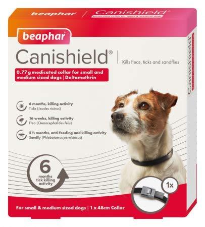 Canishield Beaphar Collar para Perros pequeños y medianos, 2 Collares