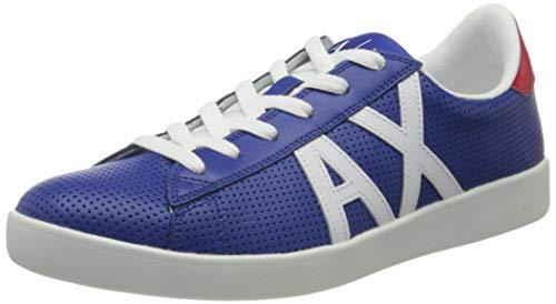 Armani Exchange AX Logo Box Sole Sneakers, Zapatillas para Hombre, Azul (Blue France 00005), 44 EU