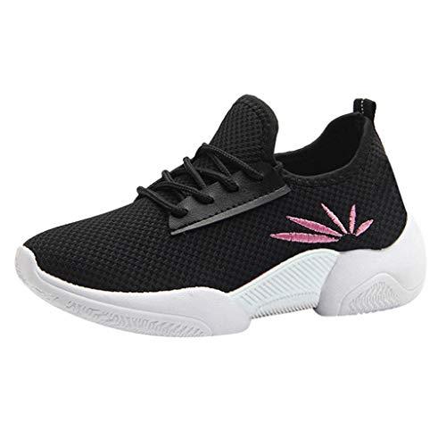 Lucky H - Zapatillas deportivas de plataforma para mujer, de moda, con parte superior baja, para exteriores, ocio y uso diario, zapatillas de plataforma, mocasines suaves, color Negro, talla 40 EU