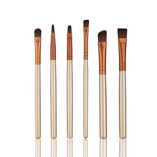 Oshide 6 pcs Pro Maquillage Cosmétique Brosse Eye Lot de sourcils Eyeliner Fard à paupières Fond de teint Estompeur Fard à joues outils kit