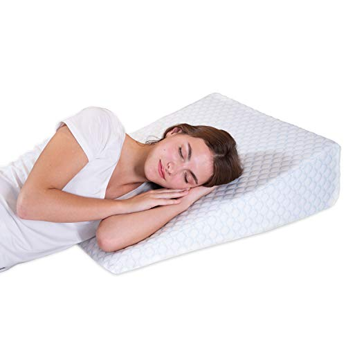 Bed Wedge Pillow with 1.5 Inch Memory Foam Top, (24 x 28...