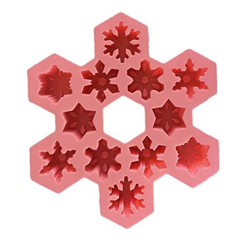 Moule à glaçons en silicone créatif pour gâteau à la maison rose