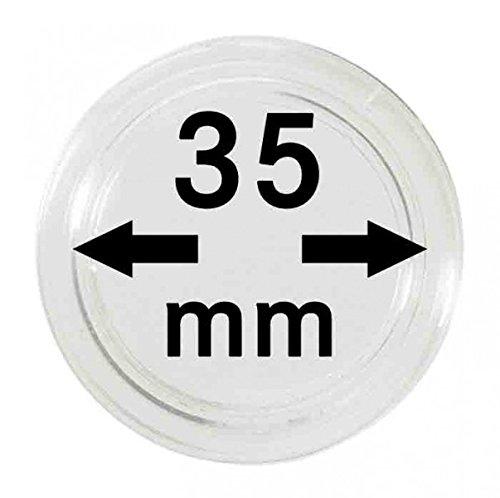 LINDNER Das Original Capsules Monnaies Ø intérieur 35 mm, Paquet de 100