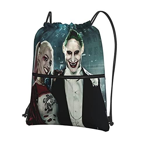 Mochila deportiva con cordón, mochila de viaje para la escuela o el niño o la niña, bolsa de viaje con cordón impermeable, con cremallera externa