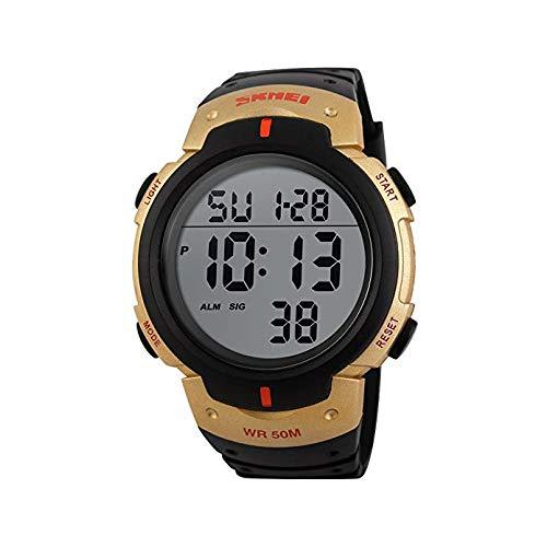 LLDKA Data dell'Allarme LED Orologi Orologi Sportivi Oro Nero Orologio da Polso Impermeabile Orologio Digitale,d'oro