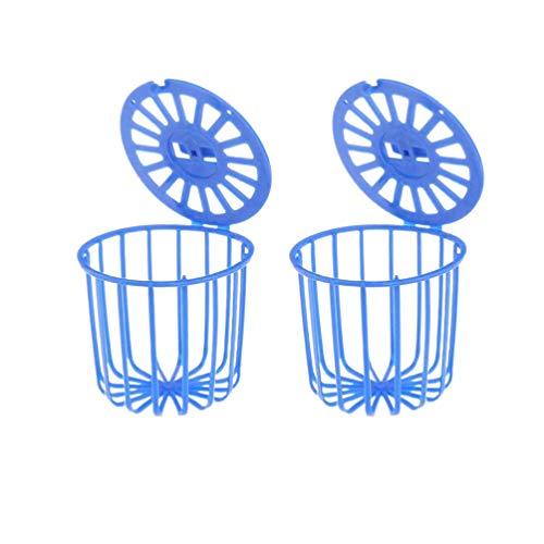 Balacoo 2pcs Draht Vogelhäuschen Obst Gemüse hängenden Korb Papagei Feeder Käfig für Nymphensittich Kakadu Ara blau
