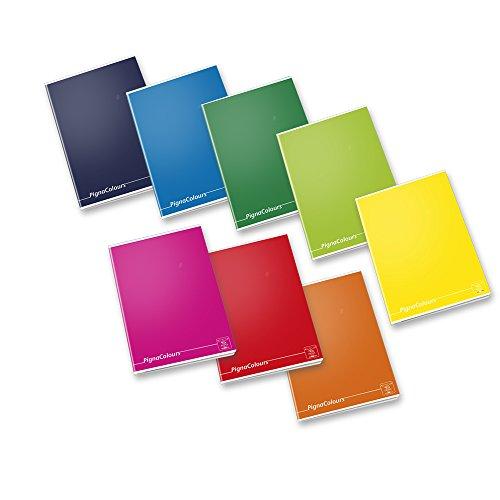Pigna 02217780C Quaderno 40 hojas, multicolore, A5, 80 g / m², papel cuadriculado, 10 pieze